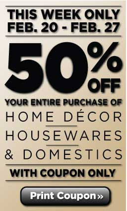 Home decor savings exclusive