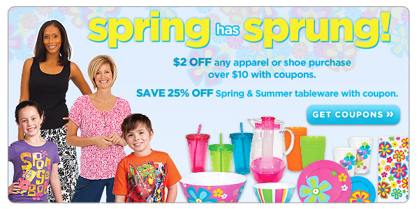 Spring Has Sprung- Tableware & Apparel Deals